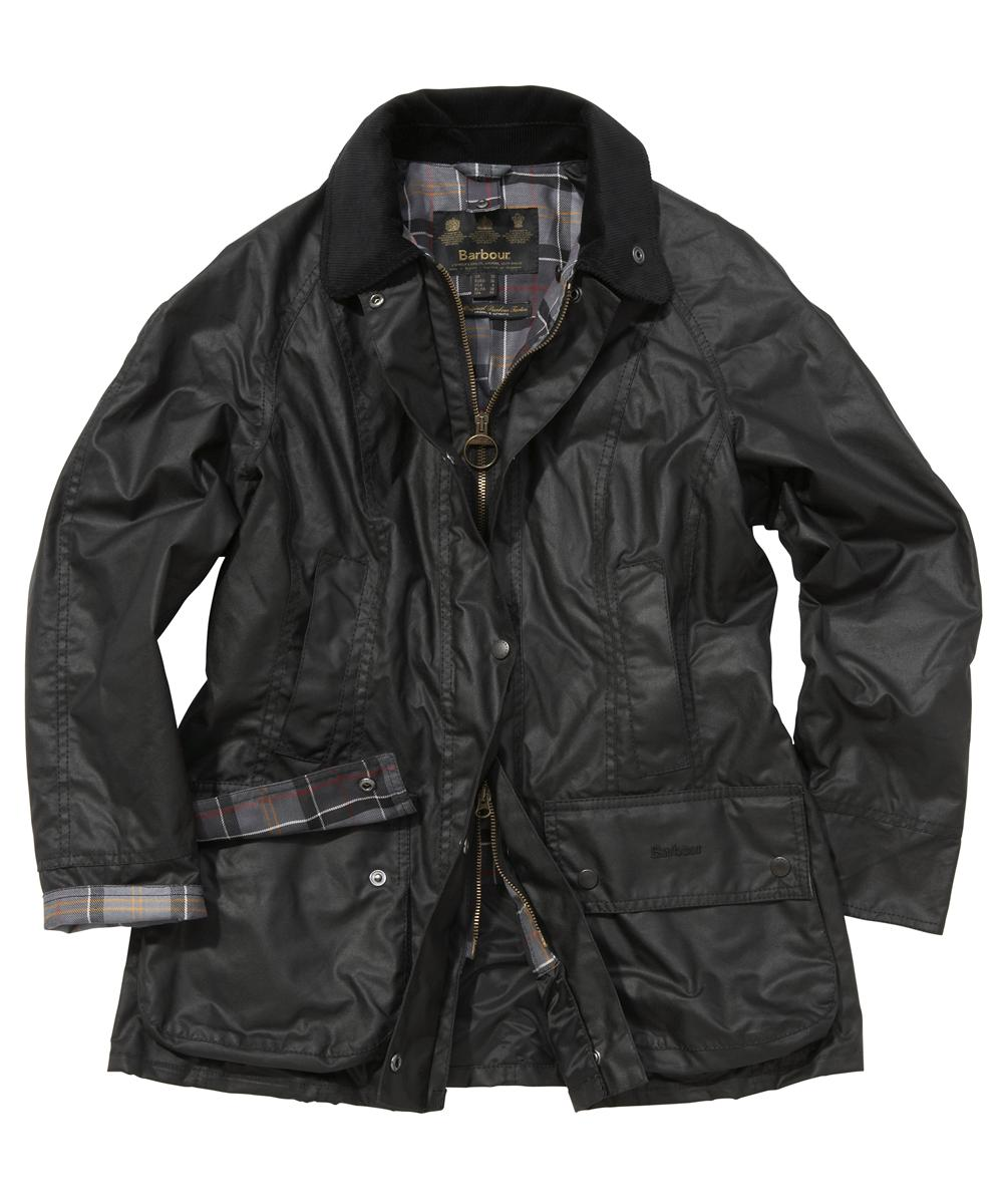 Barbour Ladies Beadnell Jacket Black | Modern Tartan Sale
