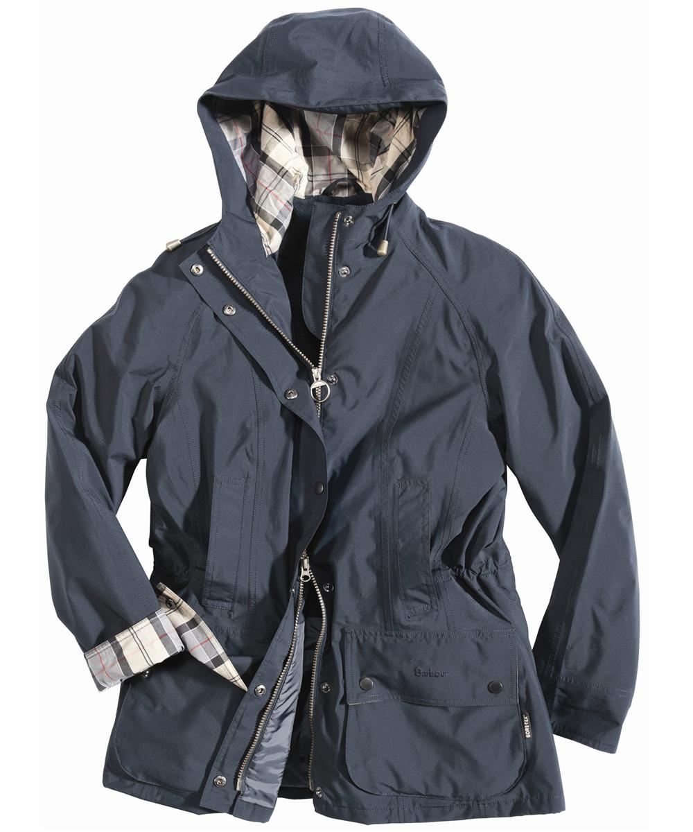 Womens Barbour Waterproof City Beadnell Parka Jacket Navy Sale