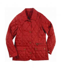 Barbour Ladies Daphne Quilted Jacket Red Sale