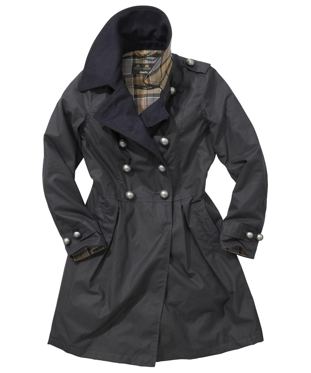 Womens Barbour Fusilier Waxed Jacket Navy Sale