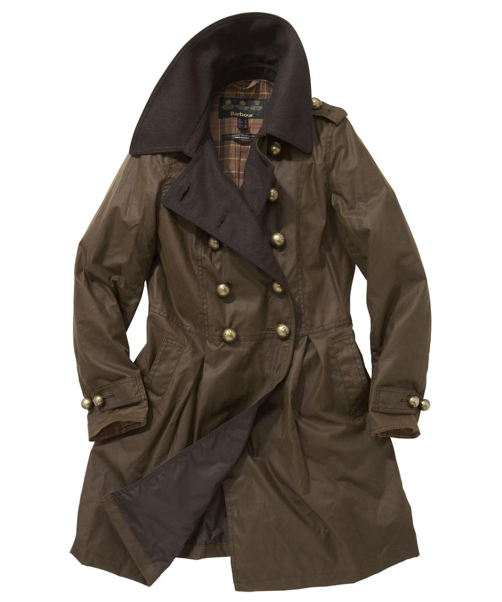 Womens Barbour Fusilier Waxed Jacket Brown Sale