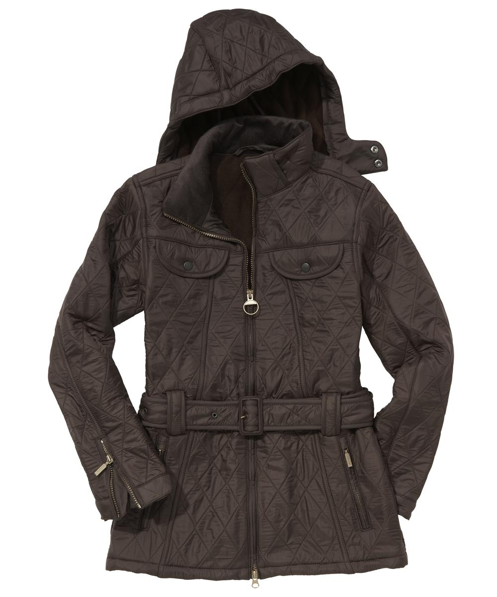Barbour Ladies Grace Polarquilt Jacket Dark Brown Sale