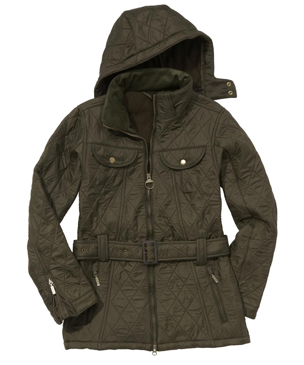 Barbour Ladies Grace Polarquilt Jacket Olive Sale