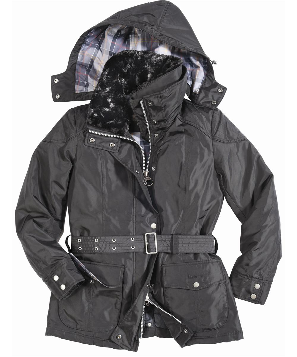 Womens Barbour Outlaw Waterproof Jacket Black Sale