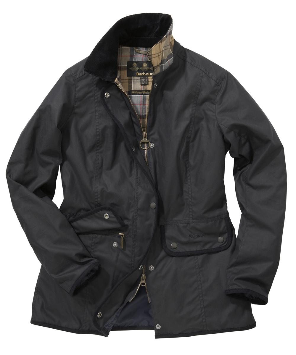 Womens Barbour Coventry Waxed Jacket Navy Sale