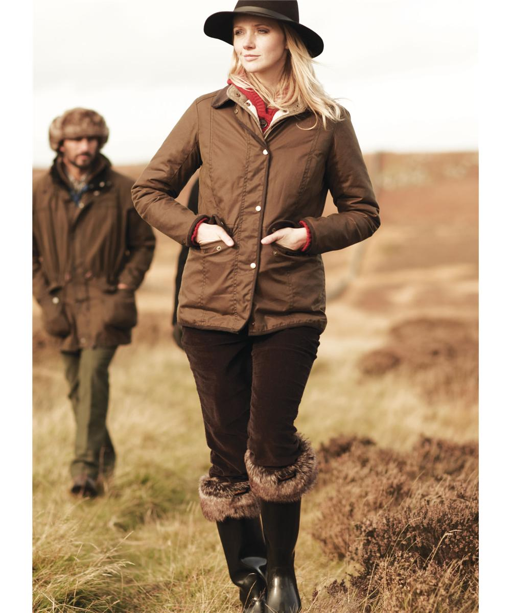 Womens Barbour Coventry Waxed Jacket Brown Sale