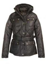 Barbour Nation Down Quilted Jacket Dark Brown Sale