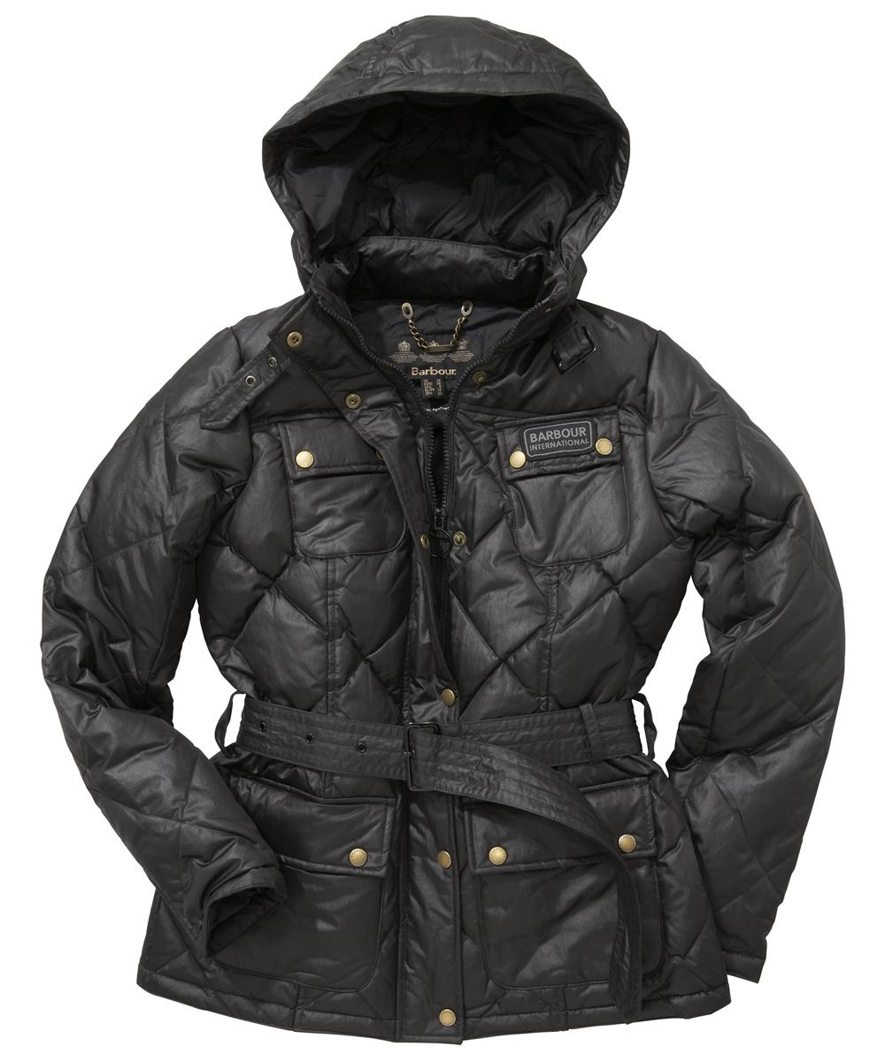 Barbour Nation Down Quilted Jacket Black Sale