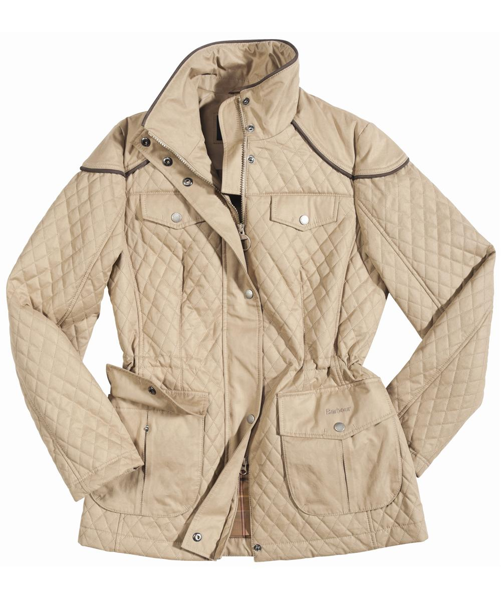 Womens Barbour Charlize Quilted Jacket Sandstone Sale