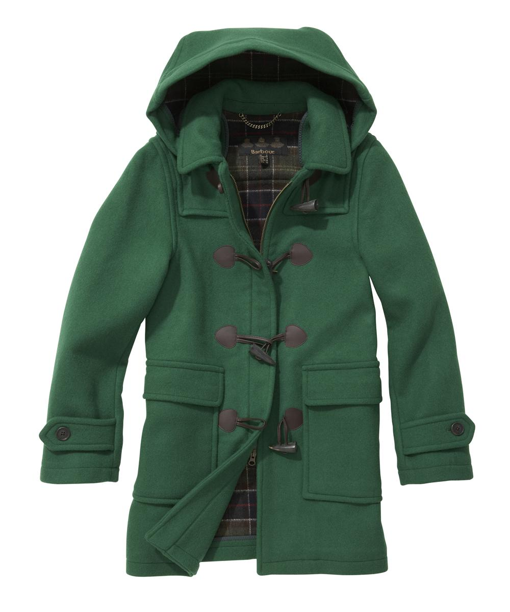 Barbour Ladies Classic Duffle - Green | Classic Tartan Sale