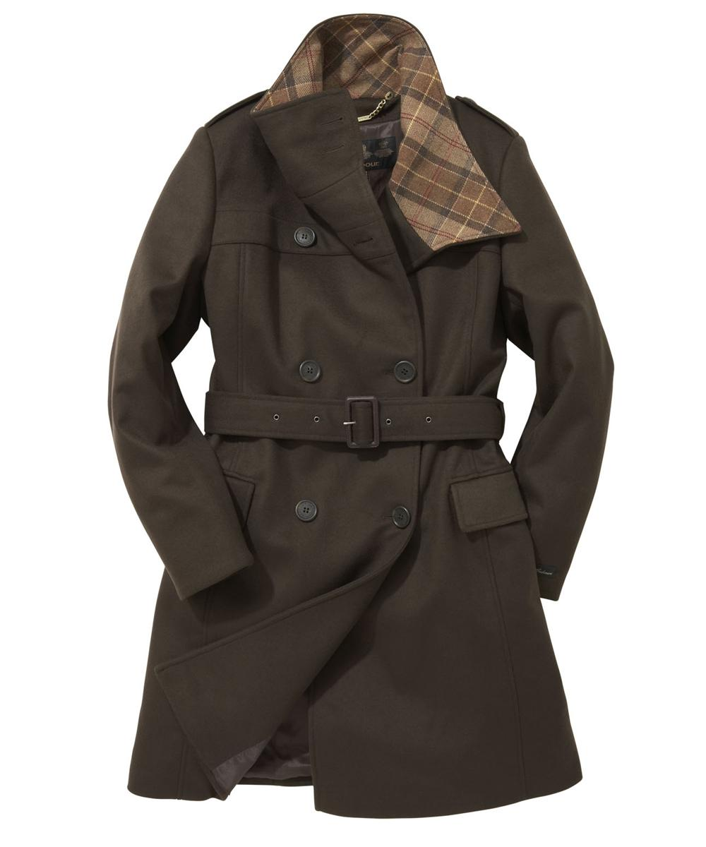 Womens Barbour Josie Wool Coat Brown Sale