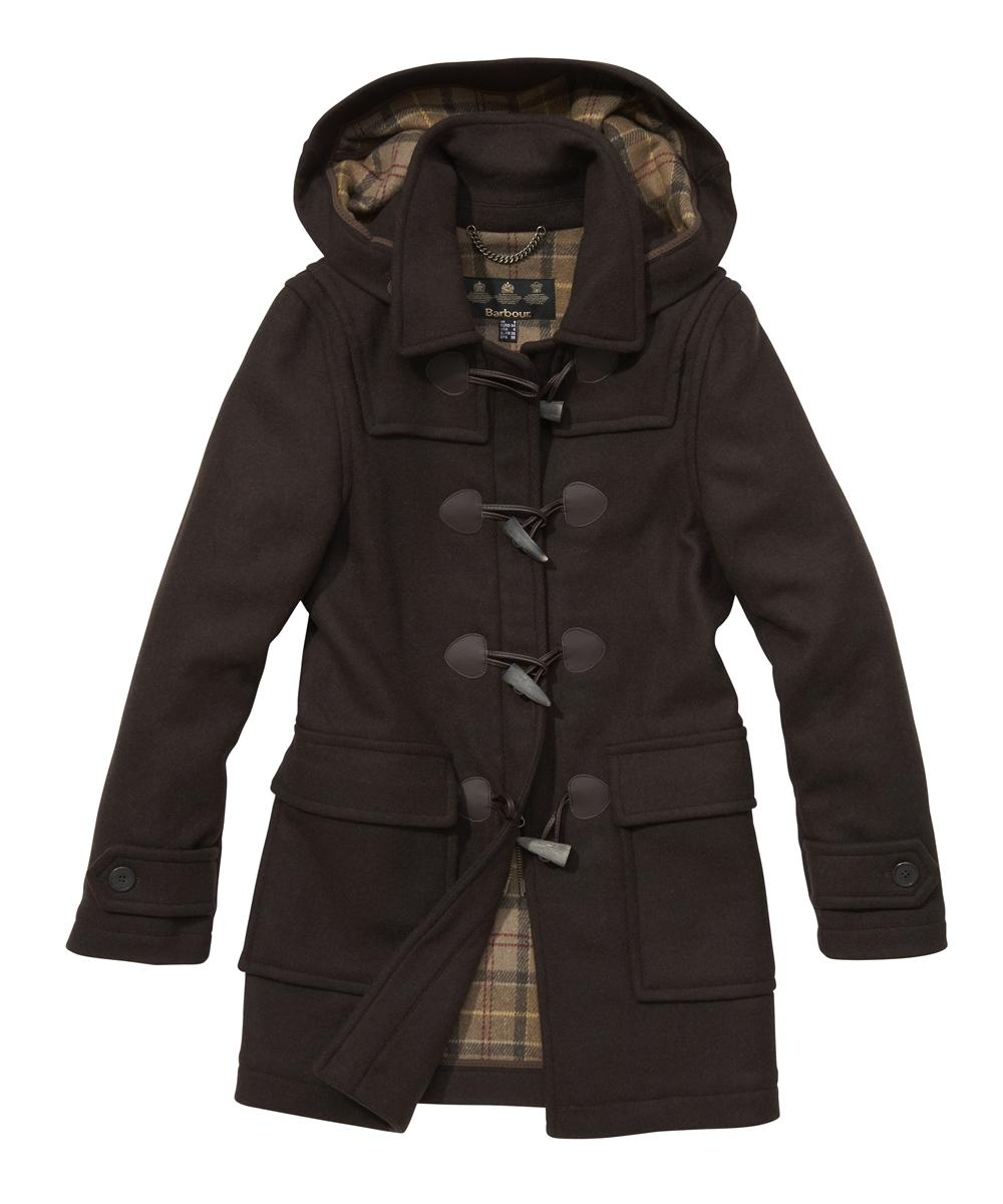 Barbour Ladies Classic Duffle - Chocolate | Muted Tartan Sale