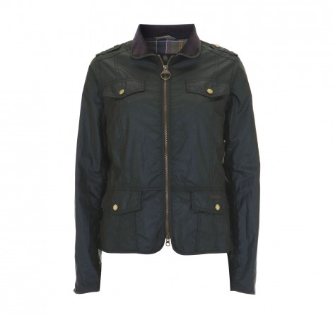 Womens Barbour Calgary Waxed Jacket - Black Sale