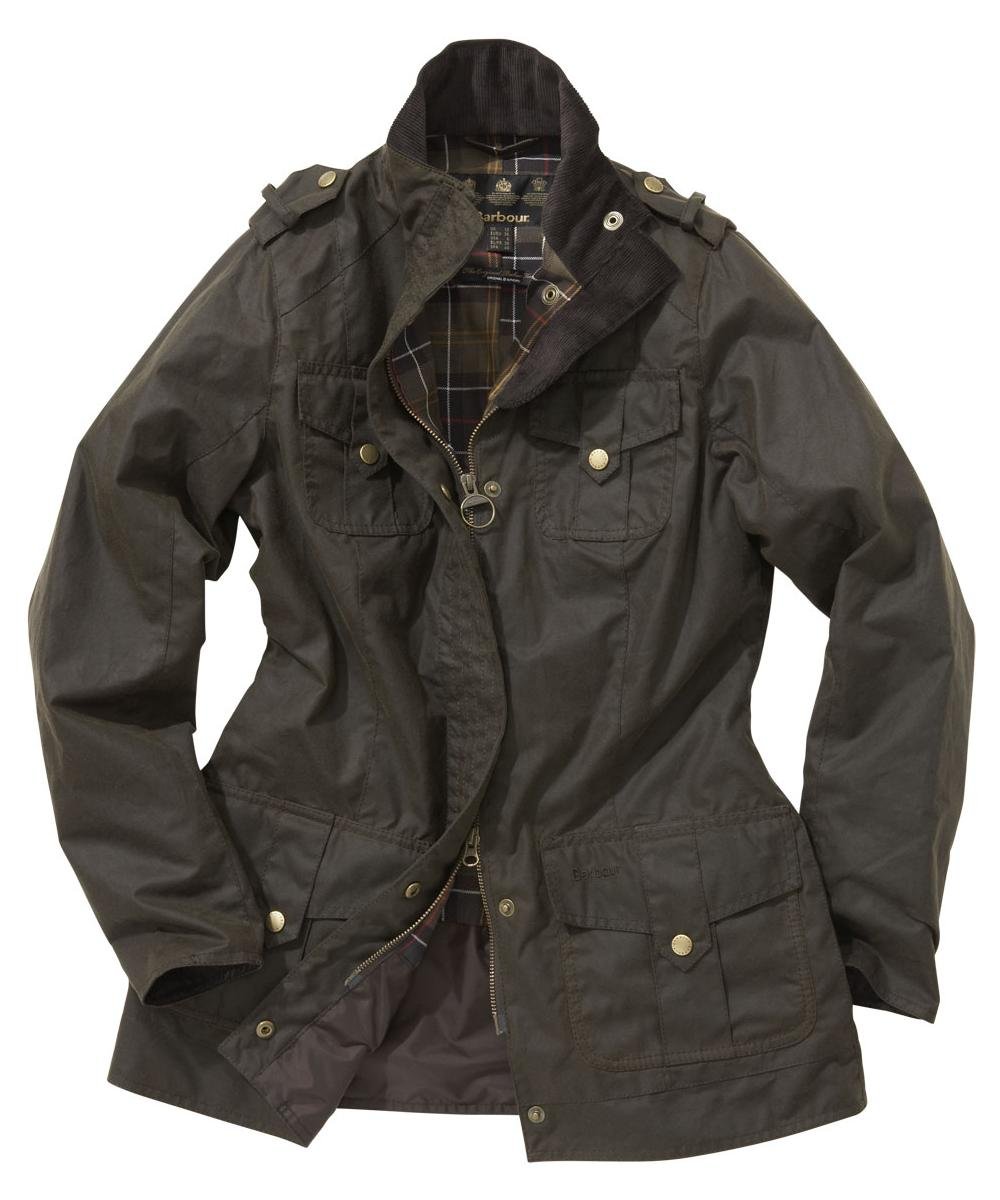 Barbour Ladies Defence Jacket Olive | Classic Tartan Sale