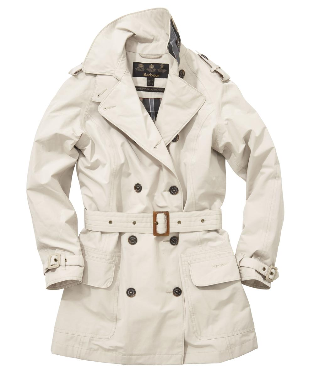 Barbour Valerie Cotton Touch Trench Coat - Stone Sale