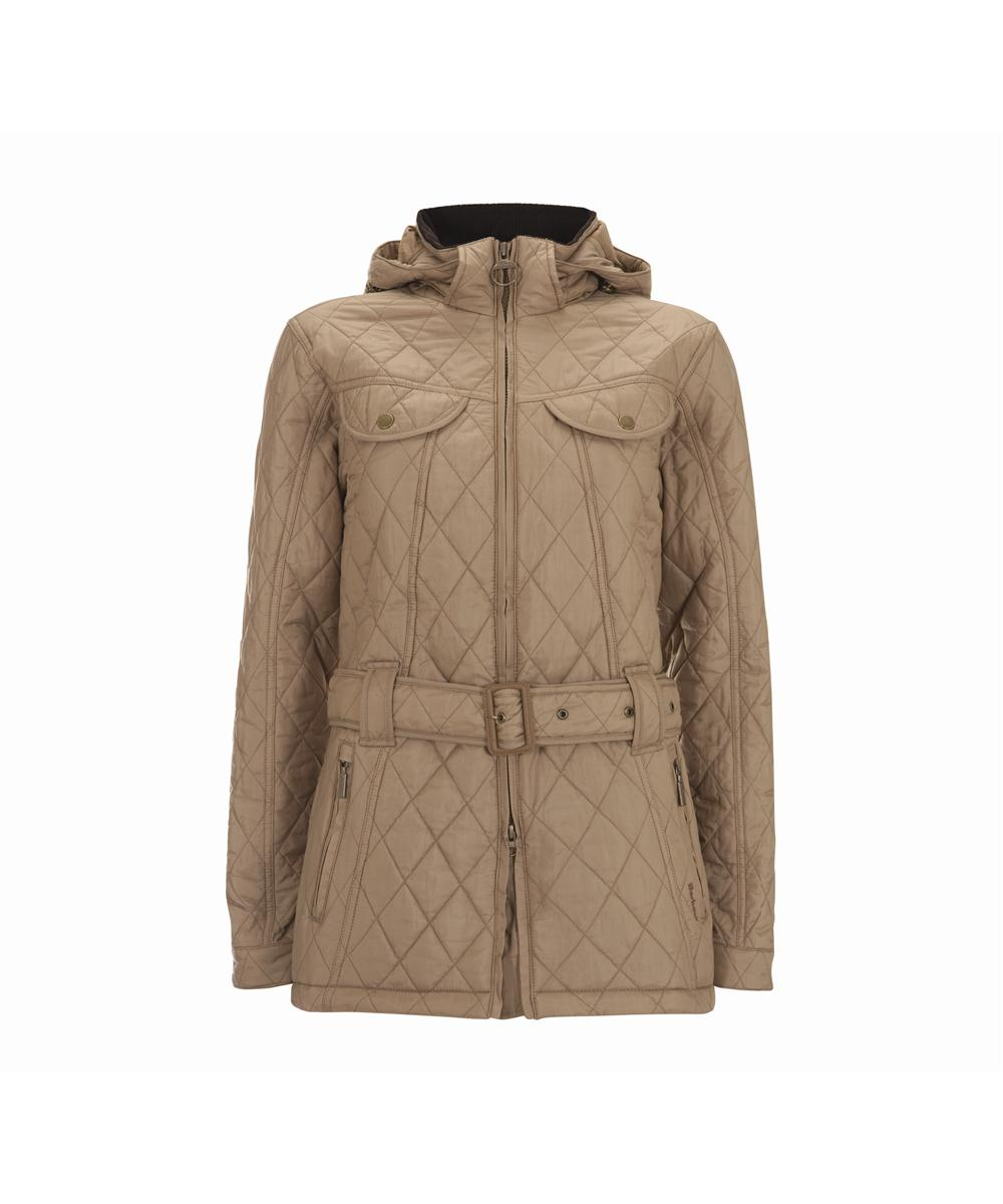 Womens Barbour Flyweight Grace Quilted Jacket - Mink Sale