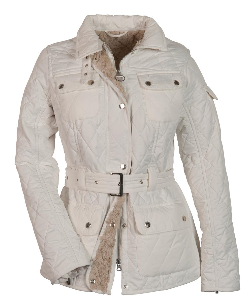 Womens Barbour Winter International Polarquilt Jacket - Winter White Sale