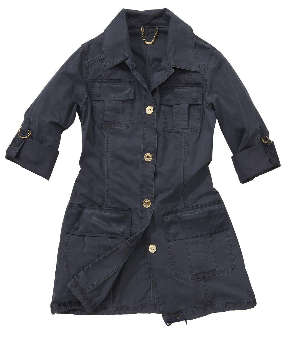 Womens Barbour Safari Jacket - Navy Sale