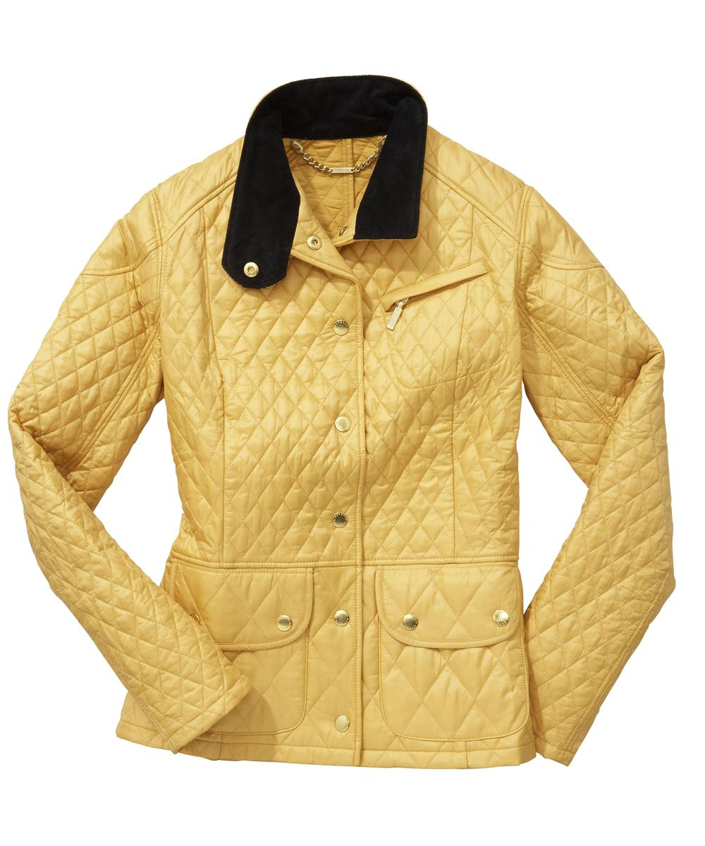 Womens Barbour Cruise Quilted Jacket - Golden Yellow Sale