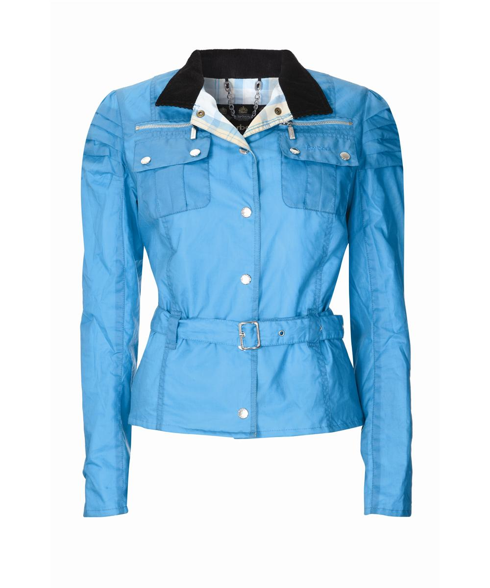 Womens Barbour Parade Waxed Jacket - Turquiose Sale