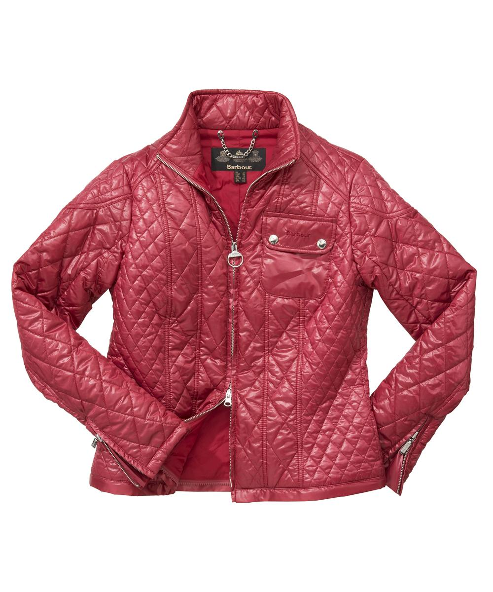 Barbour Mercury Freerider Quilted Jacket - Raspberry Sale