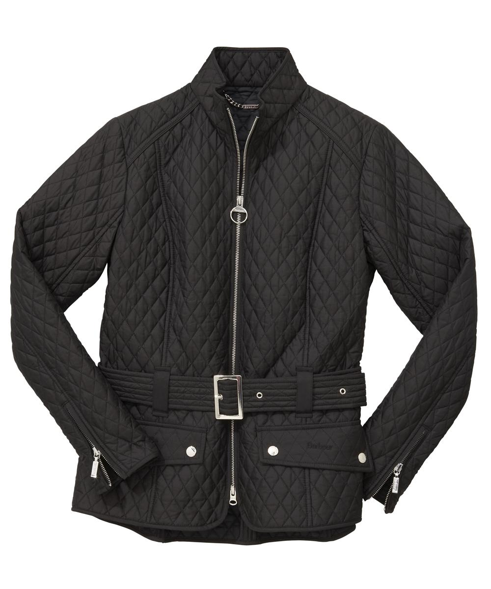 Womens Barbour Newbury Quilted Jacket - Black Sale