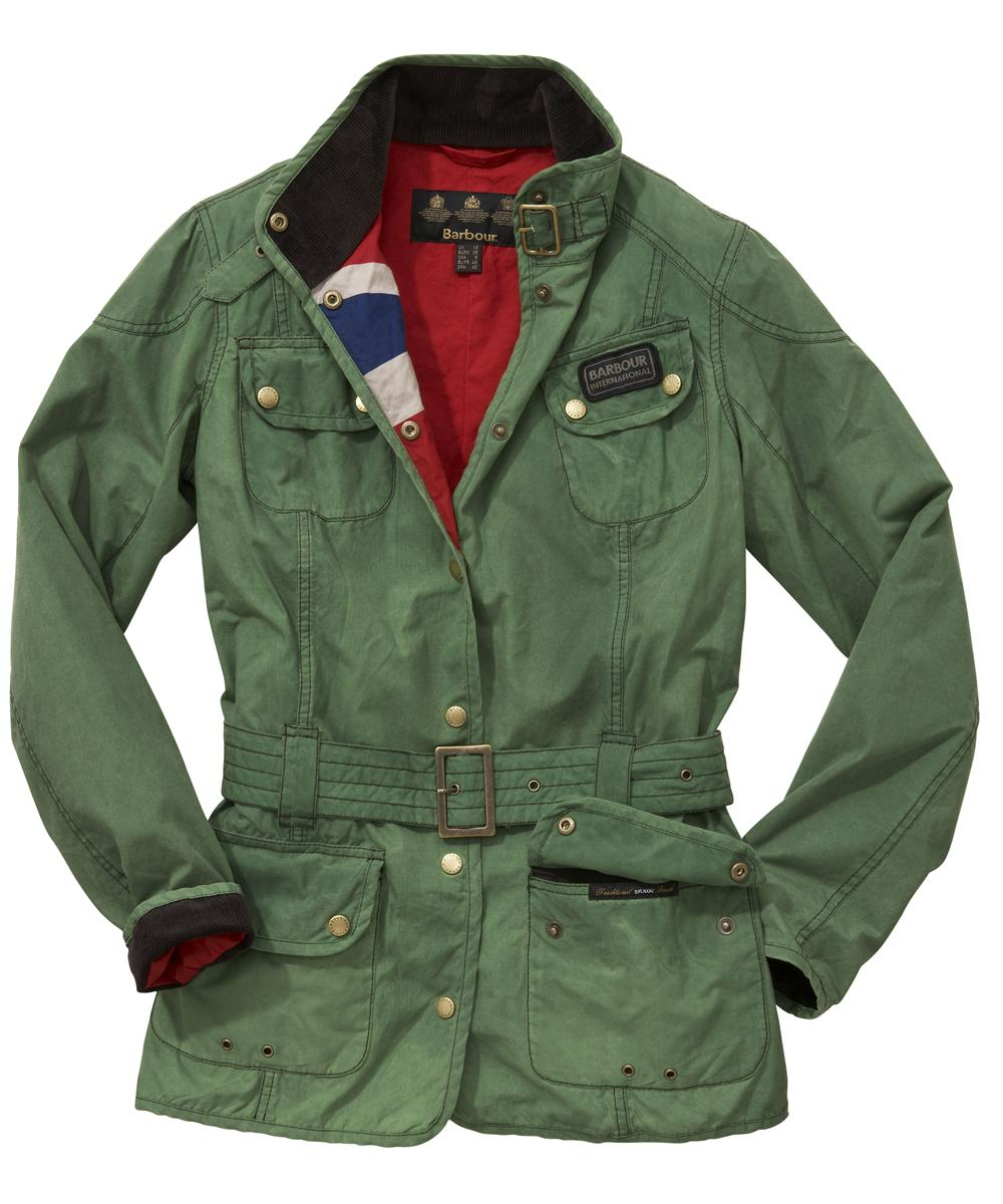 Womens Barbour Vintage International Waxed Jacket Racing